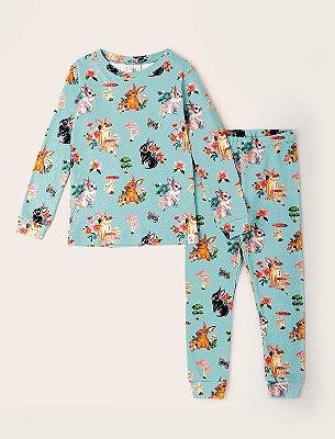 Pijama Kids Coelhos No Jardim