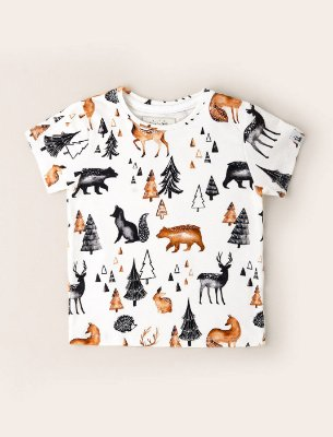 Camisa Kids Amigos no Bosque