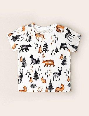 Camisa Kids Amigos no Bosque