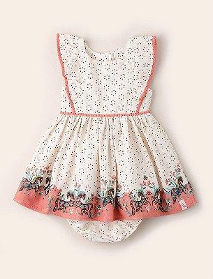 Vestido Pompom Baby Cavalinhos