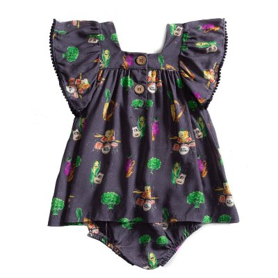 Vestido Baby Pompom The Veggies