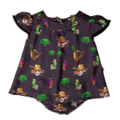 Vestido Baby Gola Redonda The Veggies