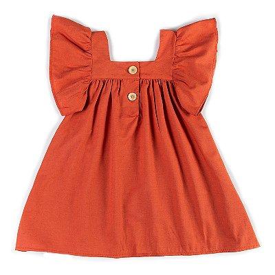 Vestido Linho Ferrugem