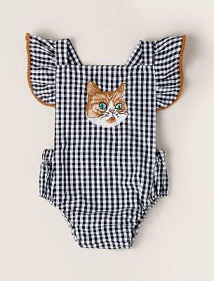 Banho de Sol Baby Gato Xadrez