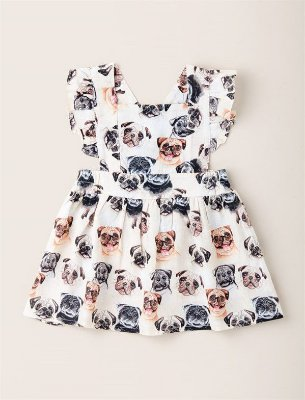 Vestido Kids Acinturado Pug
