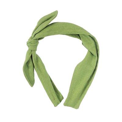 Tiara Turbante Linho - Verde