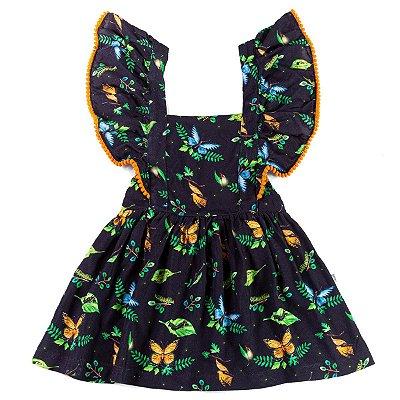 Vestido Jardineira Metamorfose Borboleta