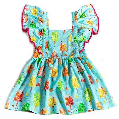 Vestido Jardineira Picolé
