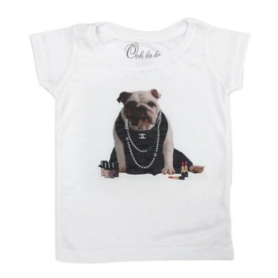 T-shirt Flamê Bulldog Chanel