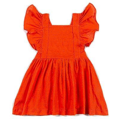 Vestido Jardineira Pop Coral