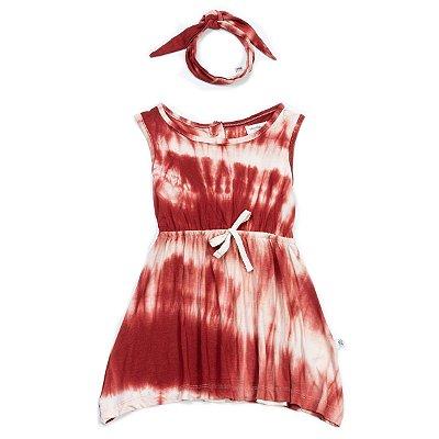 Vestido Fresh Tie Dye + Faixa - Ferrugem
