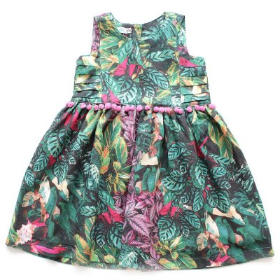 Vestido Pompom Flora