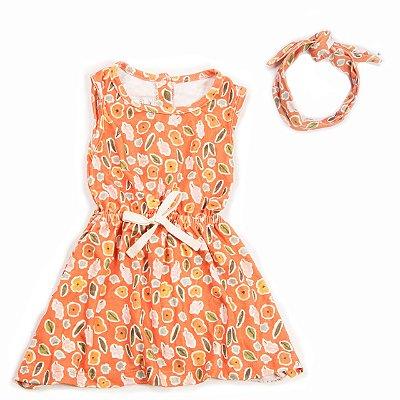 Vestido Fresh + Faixa Flor Aquarela