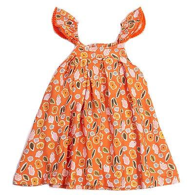 Vestido Alcinha Flor Aquarela