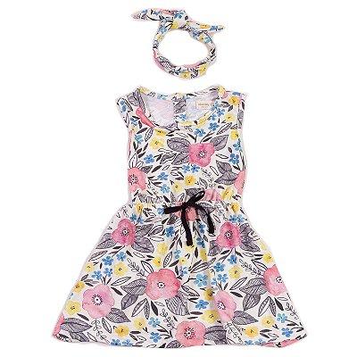 Vestido Fresh + Faixa Jardim