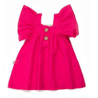 Vestido Botão POP Pink