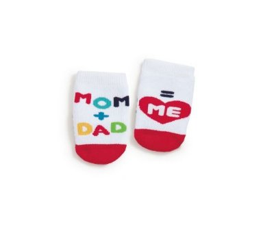Meia Soquete Mom + Dad = Me