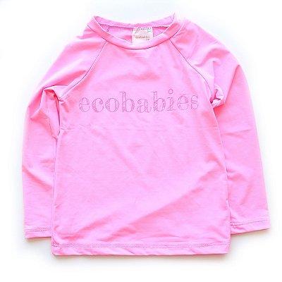 Camisa Manga Longa Pink Neon Baby FPU50