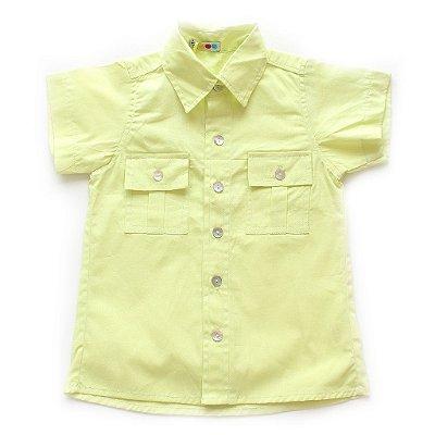Camisa de Botão Maçã Verde
