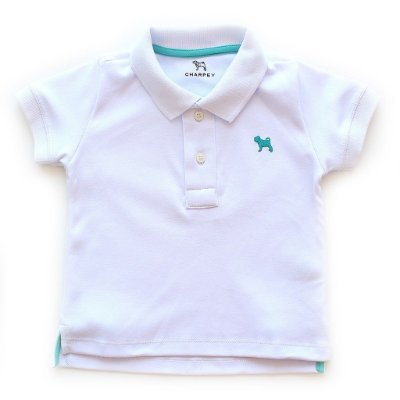 Polo Bulldog Color Branca
