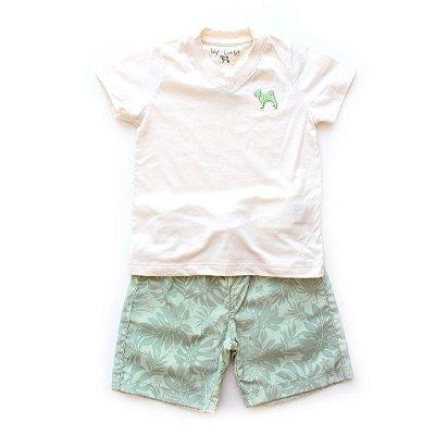 Conjuntinho T-shirt + Short Hawaí
