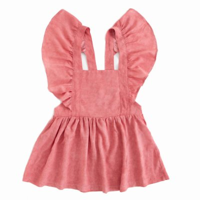 Vestido Tie Dye Jardineira Rosa Antigo