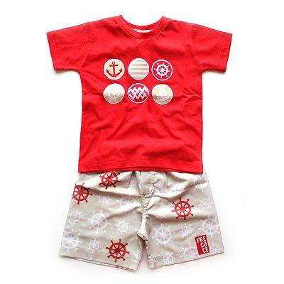 Conjunto T-shirt + Short Marinheiro