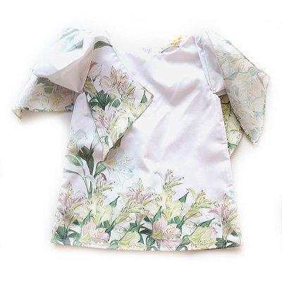 Vestidinho Laço Ombro Flores do Campo