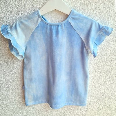 T-shirt Babado Denim Tie Dye