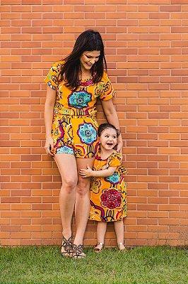 Conjuntinho Bata + Short Mãe Florear