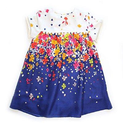 Vestido Pompom Chuvinha de Flores