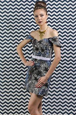 Vestido Floral Geométrico