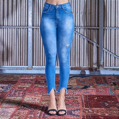 Cigarrete Skinny Jeans - Azul