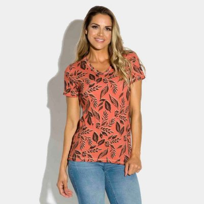 T-shirt Feminina Estampada