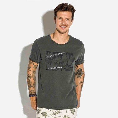 Camiseta Stonada com Relevo
