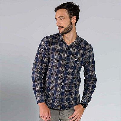 Camisa Masculina Xadrez Manga Longa