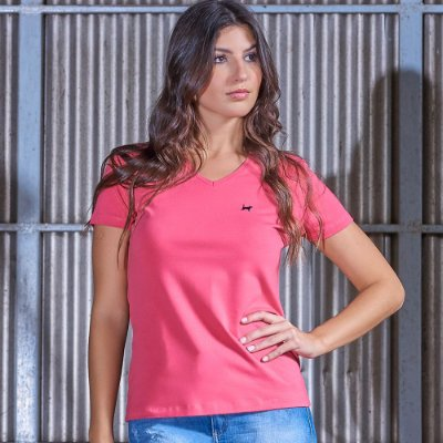 T-Shirt  Básica Cotton Decote V
