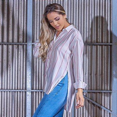 Camisa Feminina Ampla Manga Longa