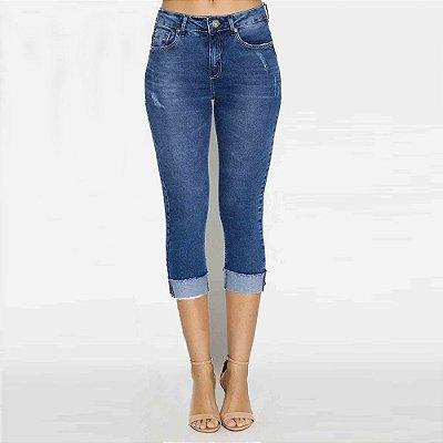 Calça Jeans Feminina Cropped