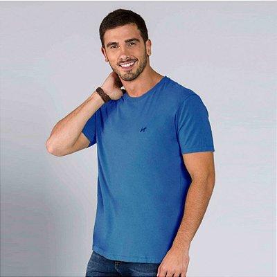 Camiseta Masculina Básica Azul
