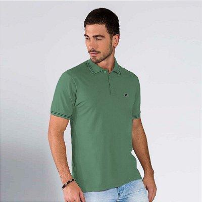Polo Básica Masculina Verde