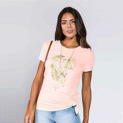 Camiseta Feminina Folhas