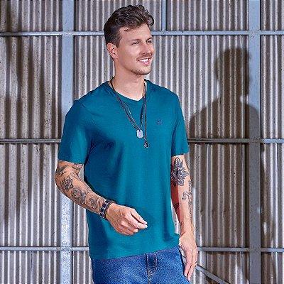Camiseta Masculina Decote V Carbono
