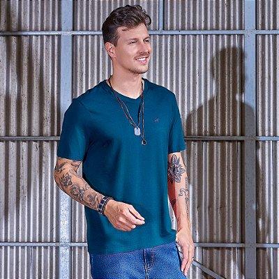 Camiseta Masculina Decote V Marinho
