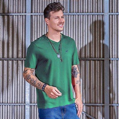 Camiseta Masculina Decote V Verde