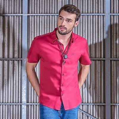 Camisa Masculina Manga Curta Comfort Fit