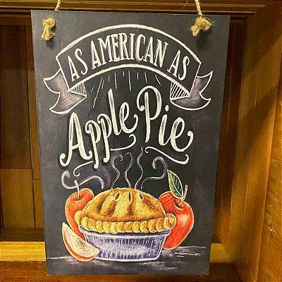 Quadro de Madeira Apple Pie