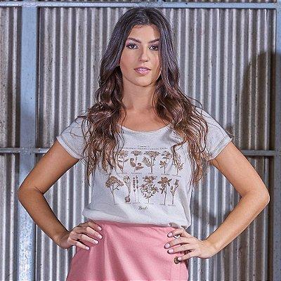 T-shirt Feminina Linho Nature