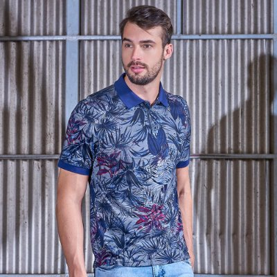 Polo Masculina Full Print