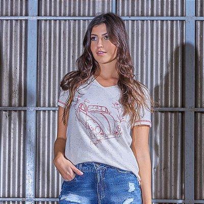 T-shirt Feminina Vintage Sustentável